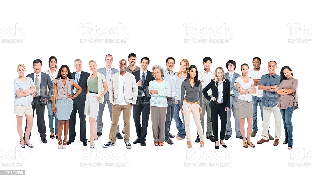 Multiethnic Group Of Business And Casual People Posing stock photo