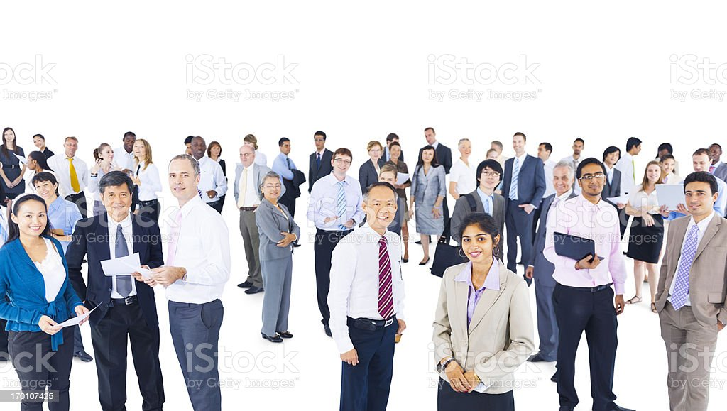 Multi-ethnic group of business person royalty-free stock photo