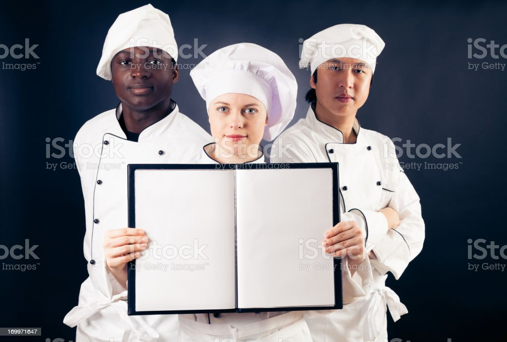 multi-ethnic group of cooks royalty-free stock photo