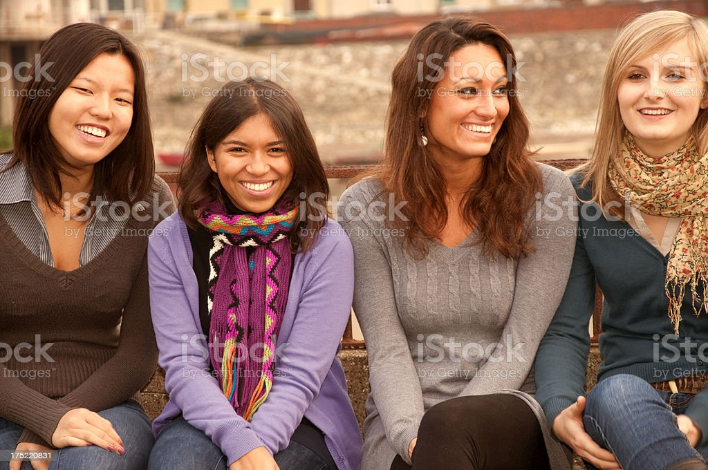 Multi-Ethnic Group of Girls Outdoor stock photo