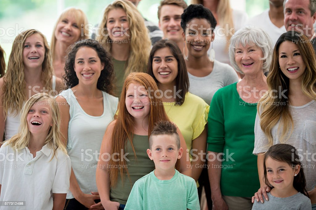 Multi-Ethnic Group of Individuals stock photo