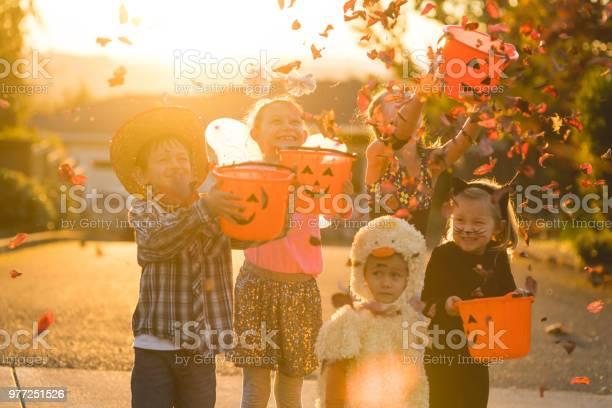 Multiethnic group of kids trick or treating picture id977251526?b=1&k=6&m=977251526&s=612x612&h=xfpywaz4qgfet4xkypkah5nrzwfymfyjbk0ehgjjk5i=