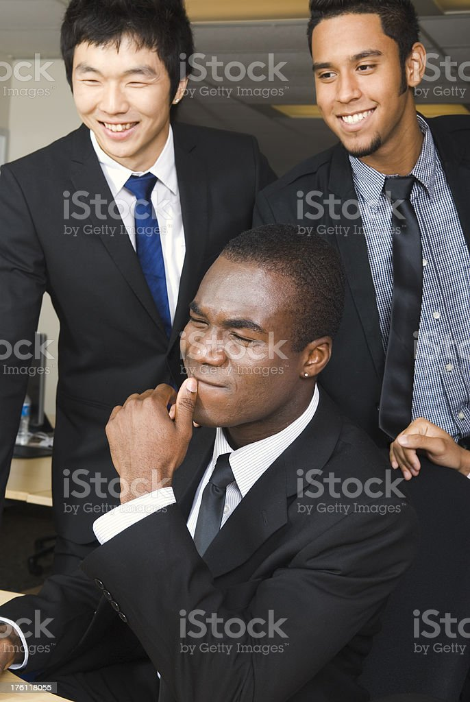 Multi-ethnic group of office workers working together - I royalty-free stock photo