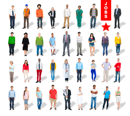 Multiethnic Group Of People And Diversity In Careers Stock