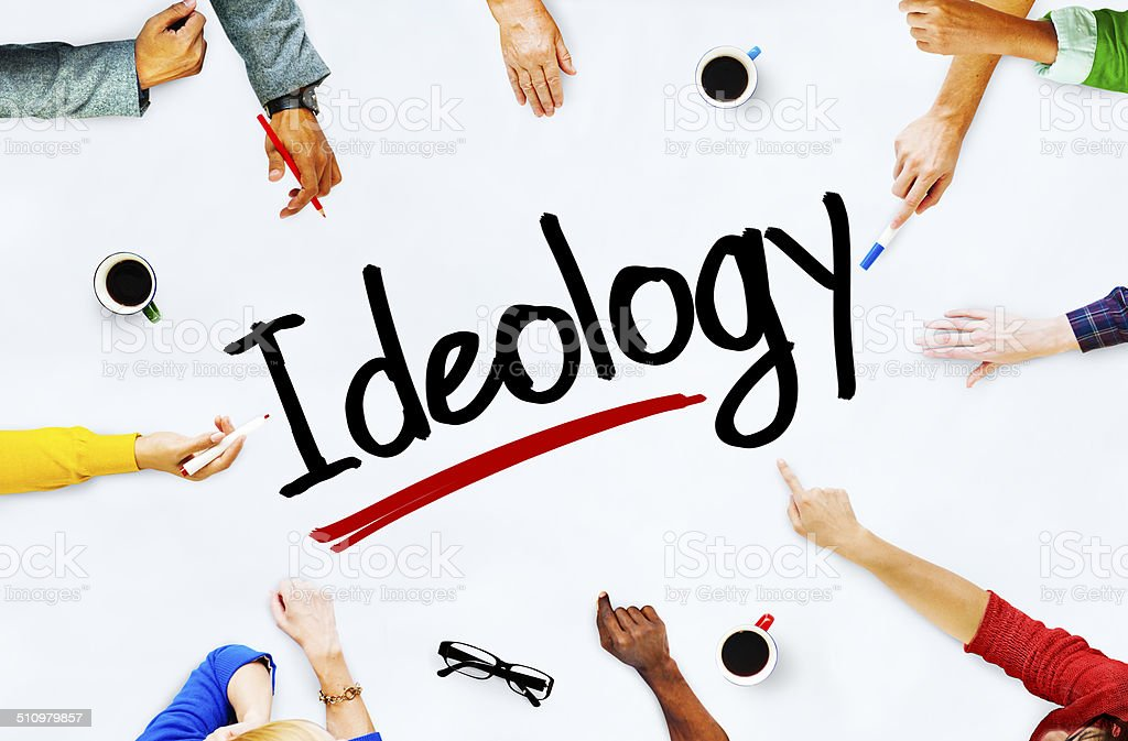 Multiethnic Group of People and Ideology Concept stock photo