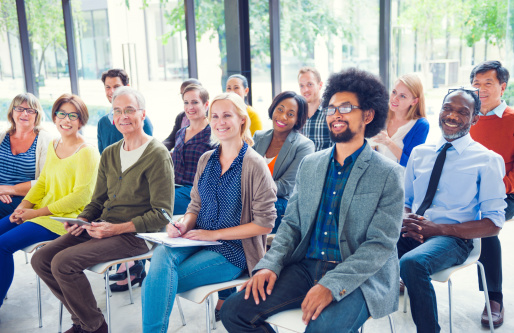 istock Multiethnic Group of People in Seminar 511027955