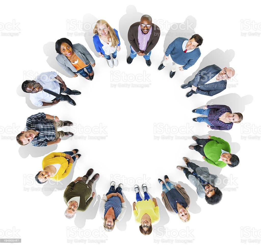 Bildergebnis für gruppe von menschen von oben
