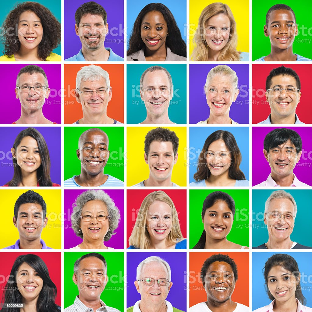 Multi-Ethnic Group Of People royalty-free stock photo