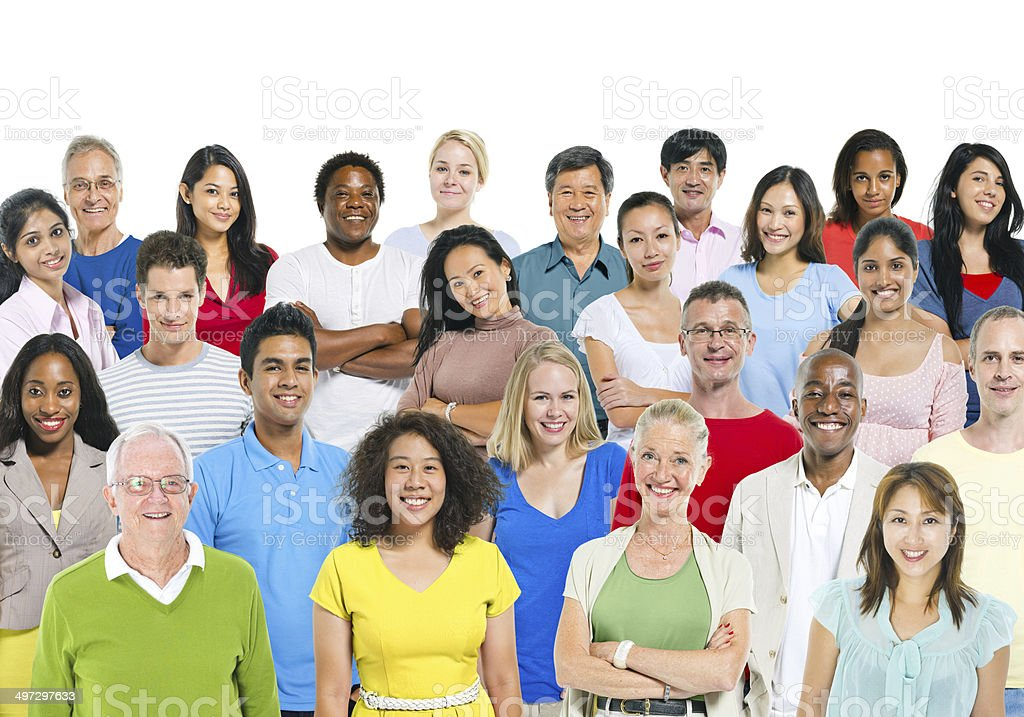 Multiethnic Group Of People stock photo