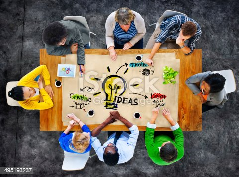 istock Multiethnic Group of People Planning Ideas 495193237