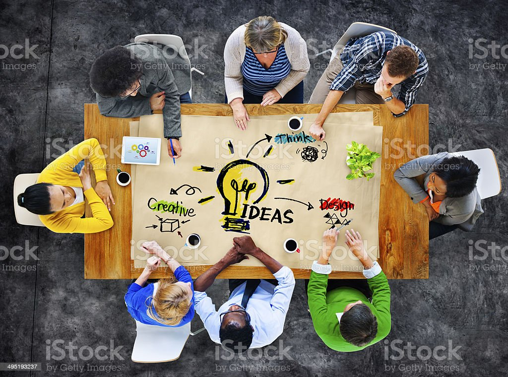 Multiethnic Group of People Planning Ideas stock photo
