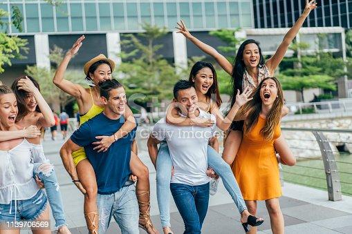 700702502istockphoto Multi-ethnic group of playful young people 1139706569