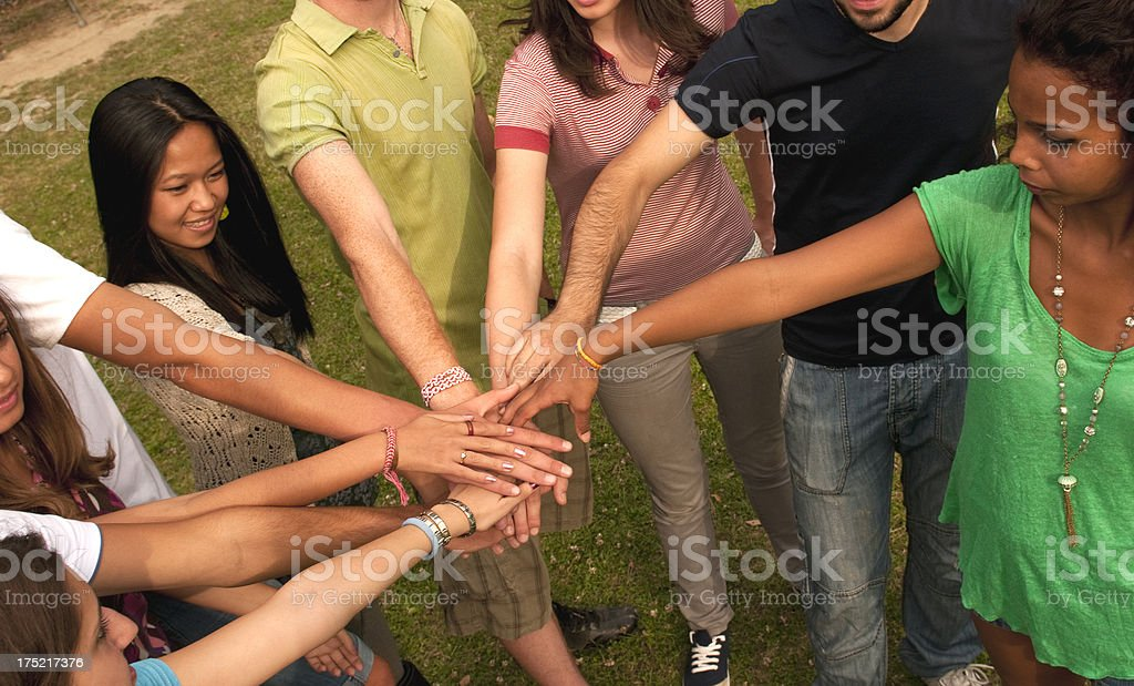 Multi-Ethnic Group of Students Unity royalty-free stock photo