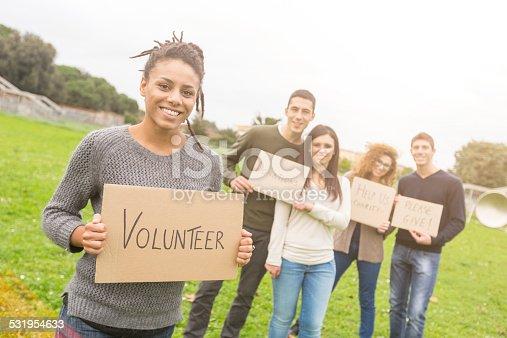 istock Multiethnic Group of Young Volunteers 531954633