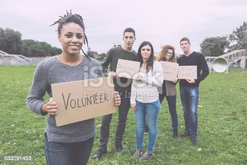 istock Multiethnic Group of Young Volunteers 533291453