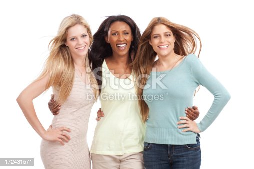 700702502istockphoto Multiethnic group of young women isolate on white. 172431571
