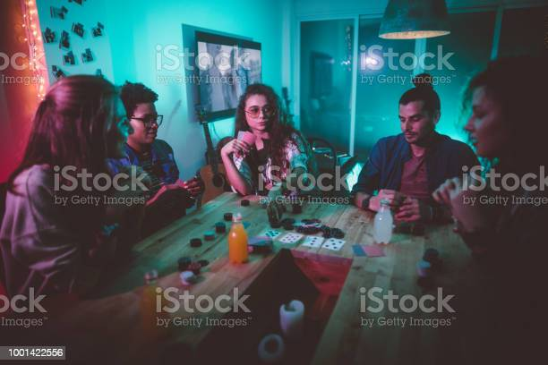 Multiethnic hipster friends playing poker at home picture id1001422556?b=1&k=6&m=1001422556&s=612x612&h=trro6fe3sz 8ml0ieibt0y0f8b6lgjw qjurpblh6v0=