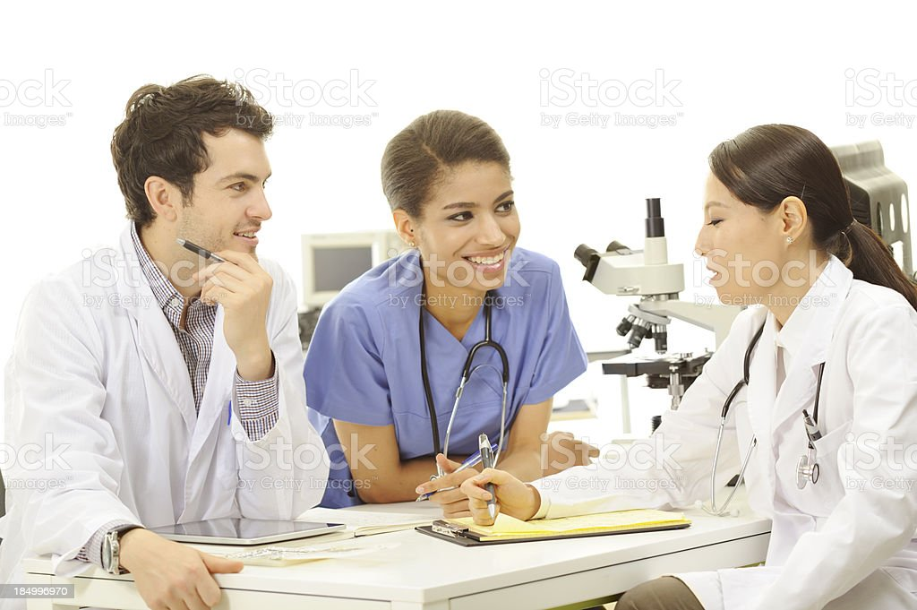 Multiethnic medical team royalty-free stock photo