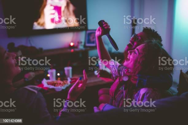 Multiethnic teenage girls having fun singing at slumber party picture id1001424368?b=1&k=6&m=1001424368&s=612x612&h=oyxbh1 vuswfb9rkptegsaazhubxcq91p0mmogmp eg=