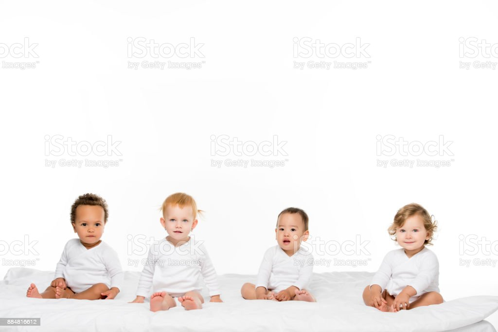 multiethnic toddler boys and girls stock photo