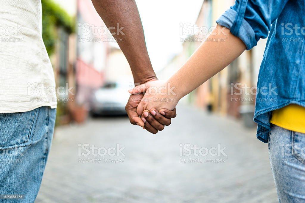 Multiethnics handshake stock photo