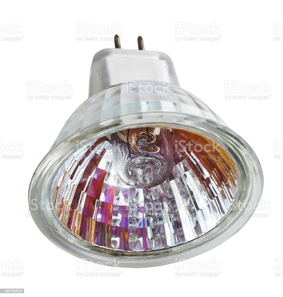 multifaceted reflector (MR) halogen lamp royalty-free stock photo