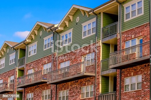 Multifamily townhouse in a Midwestern town, USA