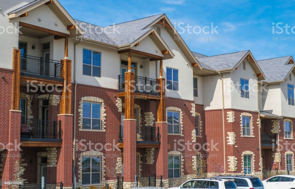 Multifamily bulding in the American Midwest stock photo