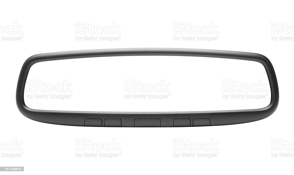 Multifunction Rear View Mirror - Isolated w/ Paths stock photo