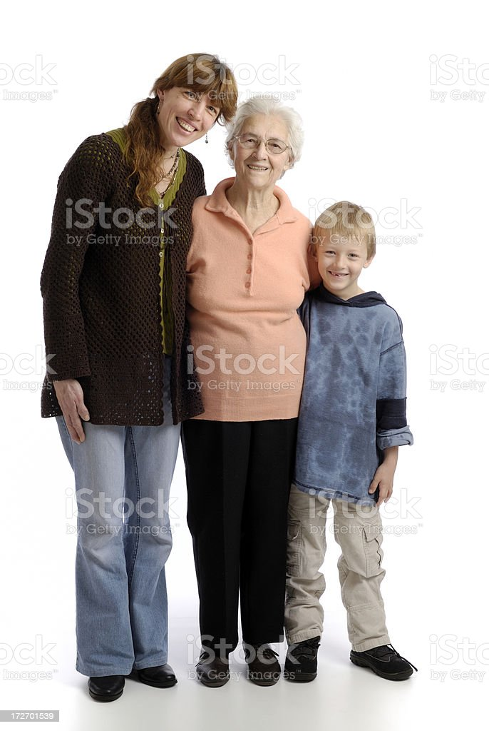 Multi-generation family royalty-free stock photo