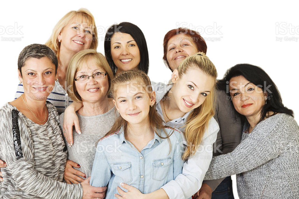 Multi-generation Family stock photo