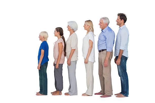 Multigeneration familia posando juntos - foto de stock