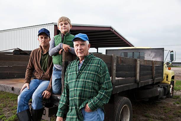 Multi-generation-Familie auf der farm – Foto