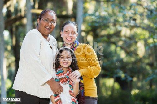 916556066 istock photo Multi-generation Hispanic family, women only 505890083