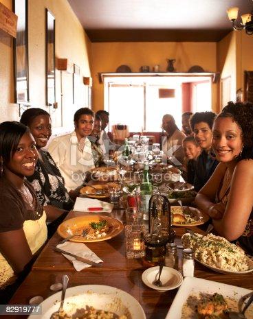 istock Multigenerational, African American family dining 82919777