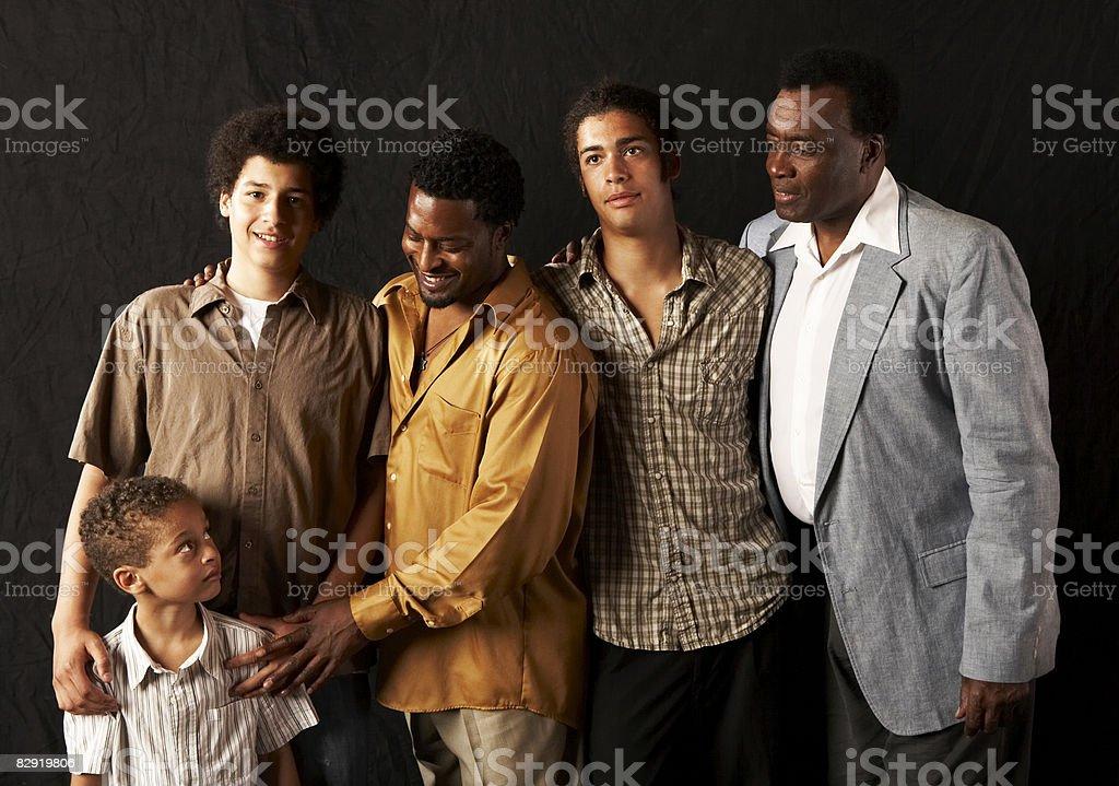 Multigenerational family portrait royalty free stockfoto