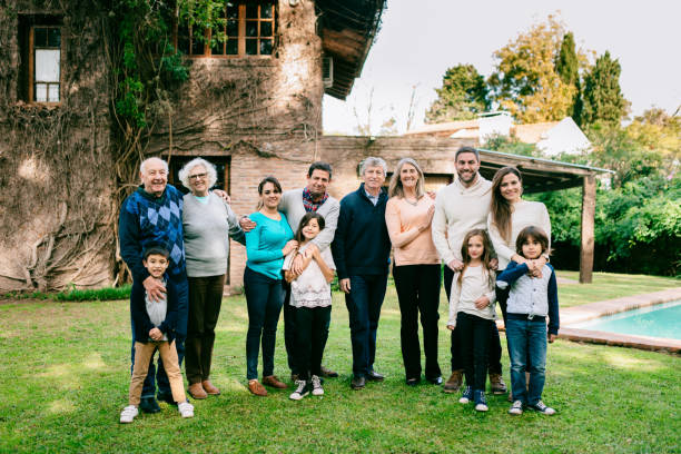 Multigenerational family reunion stock photo