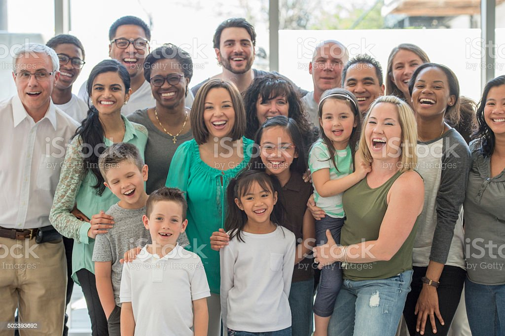 Multi-Generational Family Standing Together stock photo