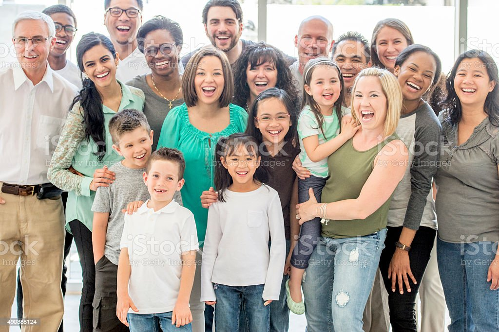 Multi-Generational Group of People stock photo