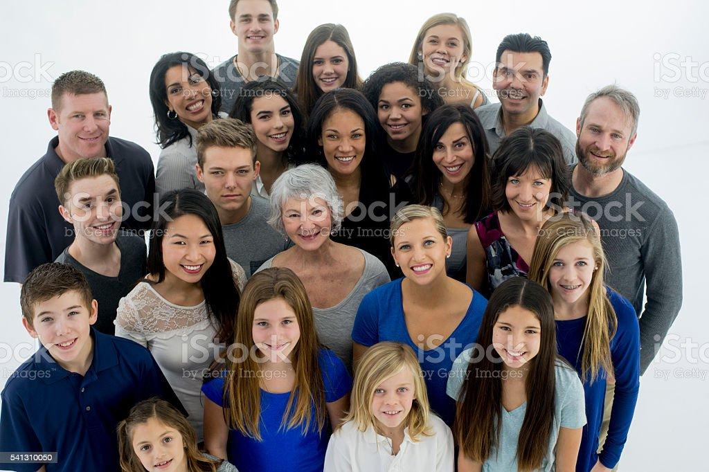 Multi-Generational Group stock photo