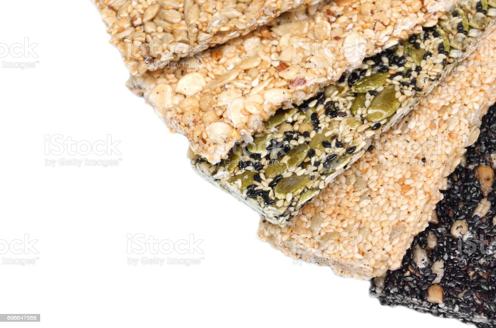 Multi-grains bars stock photo
