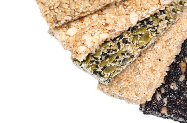 Multi-grains bars stock photo