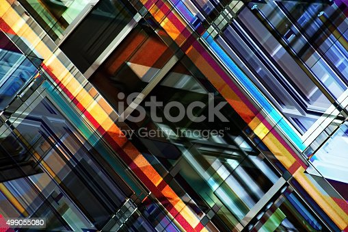 istock Multilayer image on the subject of contemporary architecture 499055080