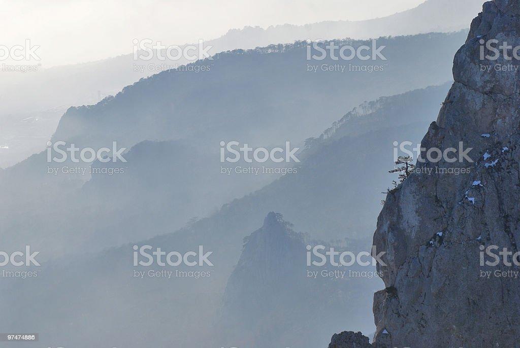 multi-layered mountains royalty-free stock photo