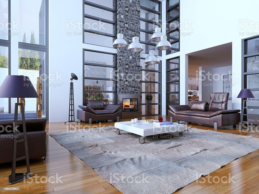 Multilevel Wohnzimmer Trend Stockfoto und mehr Bilder von ...