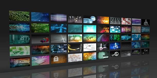 Multimedia de fondo - foto de stock