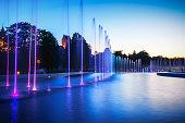 istock Multimedia color Fountain in Warsaw 994216988