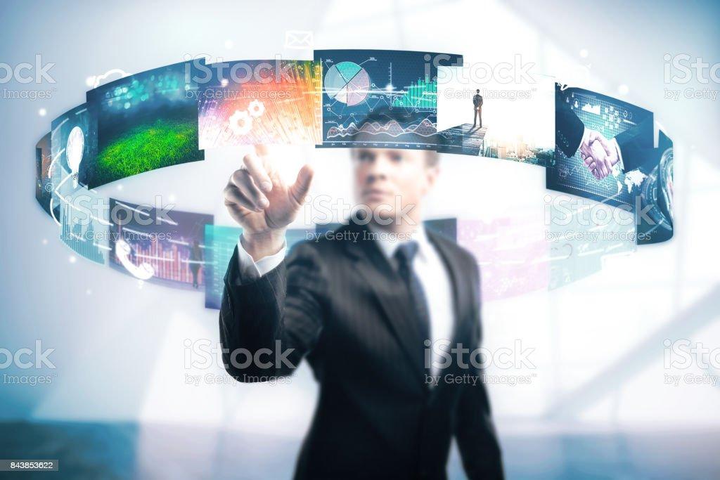 Multimedia concept stock photo