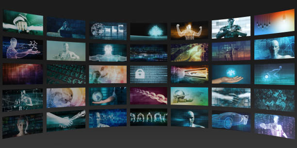 Multimedia Content Streaming stock photo
