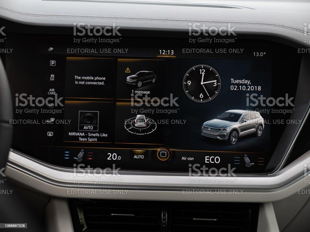 Multimedia of Volkswagen Touareg stock photo